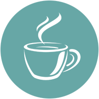 An icon of a cup of hot beverage, suggesting we take our time to listen to your computer training needs